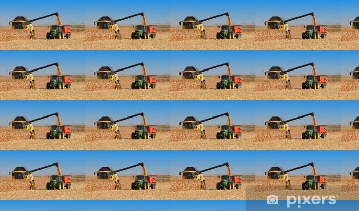 Vinylová tapeta na míru Sklizeň kukuřice zrno - Zemědělství