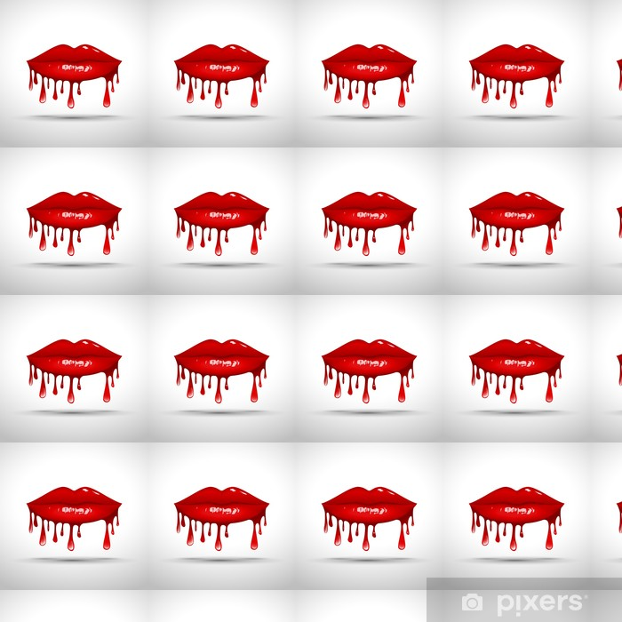 Papier peint vinyle sur mesure Lips Dripping Gloss Logo Vector # - Thèmes