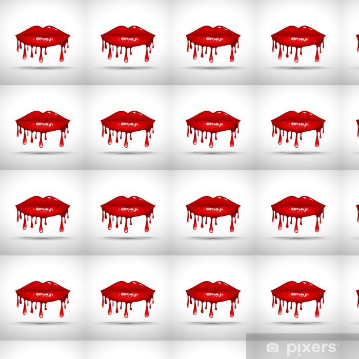 Logo Lips Dripping Gloss # Vector Vinyl Custom-made Wallpaper - Themes