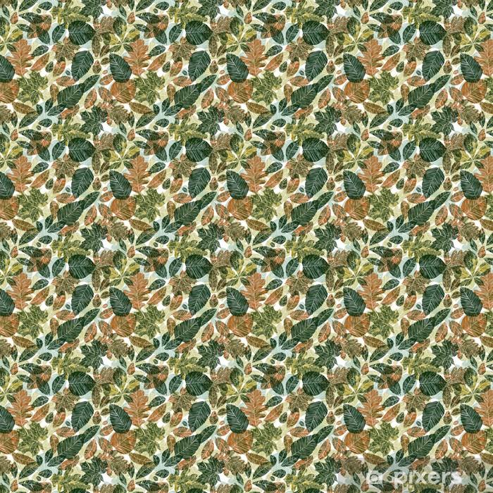 Papier peint vinyle sur mesure Différentes feuilles seamless pattern. - Thèmes