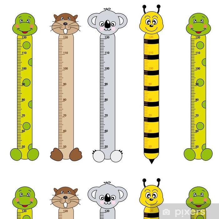 Vinyltapet Medidor de pares para niños. animales - Annet Annet