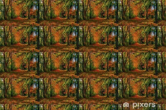 Papier peint vinyle sur mesure Autumn forest path - Saisons