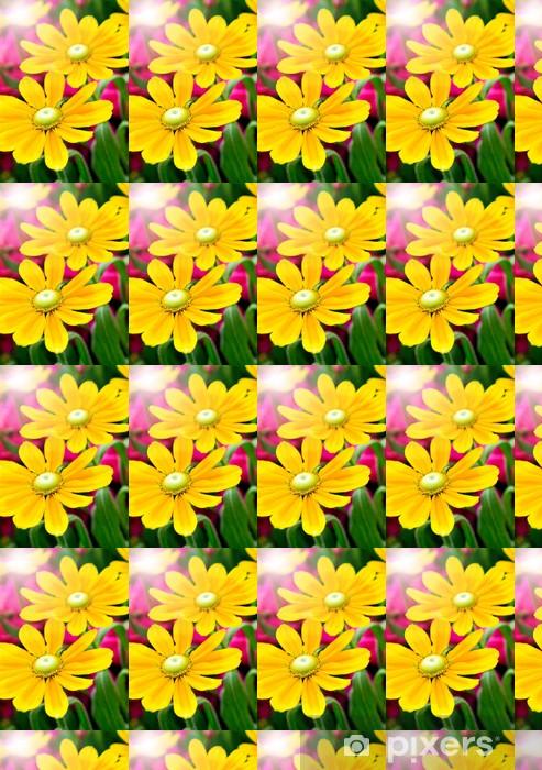 Vinyltapete nach Maß Frische Sonnenblumen - Haus und Garten