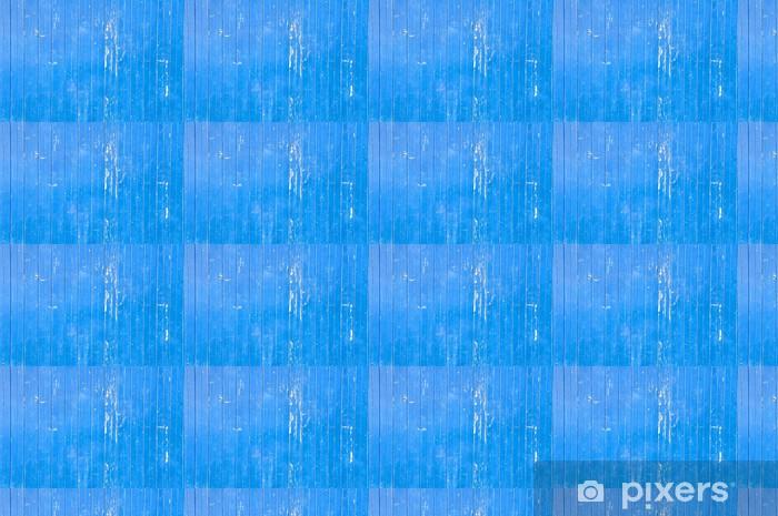 Papier peint vinyle sur mesure Mur en bois bleu - Textures