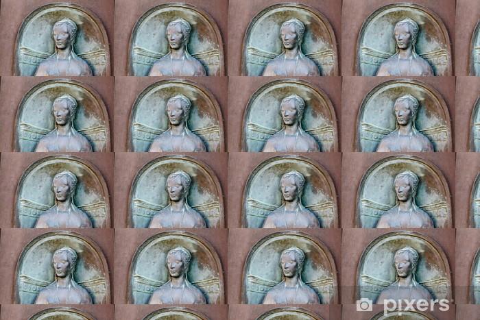 Carta da parati in vinile su misura Rilievo della donna, testa a Siena, Toscana, Italia - Vacanze