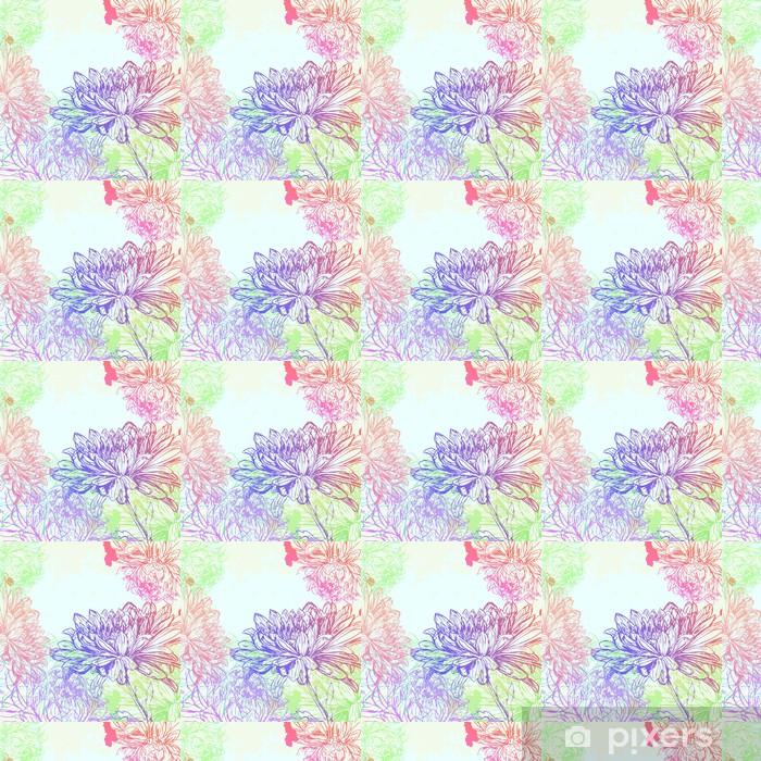 Papier peint vinyle sur mesure Chrysanthème fond - Arrière plans