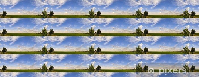 Papier peint vinyle sur mesure Photo panoramique des vignobles - Ciel