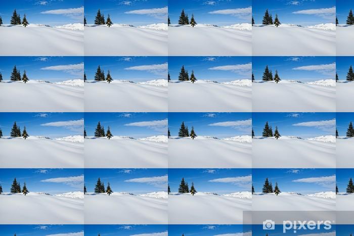 Tapeta na wymiar winylowa Śnieżny krajobraz zimowy - Europa