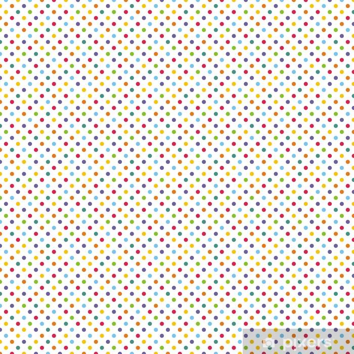 Vinyl behang, op maat gemaakt Naadloze vector patroon of achtergrond met kleurrijke stippen - Thema's