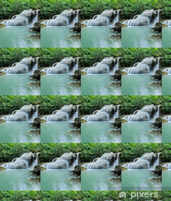 Vinyl behang, op maat gemaakt Erawan waterval in Kanchaburi, Thailand - Water