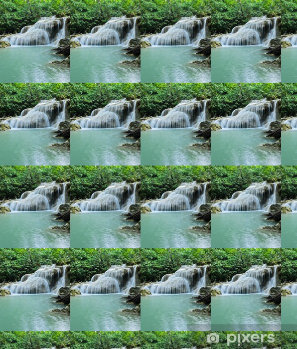 Papel pintado estándar a medida Cascada de Erawan en Kanchaburi, Tailandia - Agua