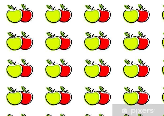 Tapeta na wymiar winylowa Ikona jabłko - Owoce