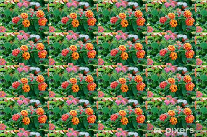 Papier peint vinyle sur mesure Fleurs de Lantana - Fleurs