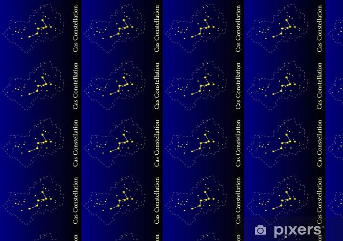 Vinyl behang, op maat gemaakt Illustratie van de Cassiopeia Constellation - Ruimte
