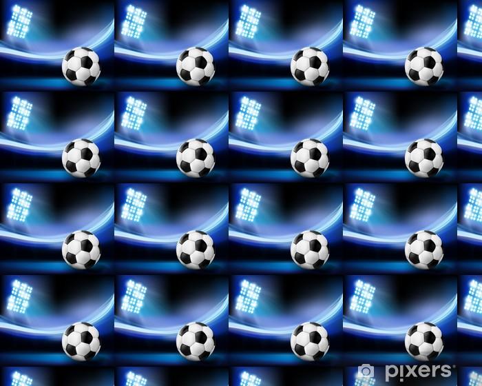 Tapete Fussball Auf Dem Stadion Vektor Illustration Nach Mass