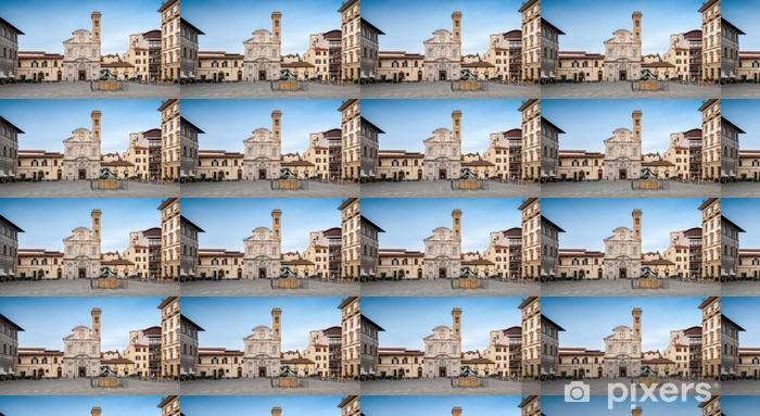 Papier peint vinyle sur mesure Piazza Ognissanti à Florence - Vacances