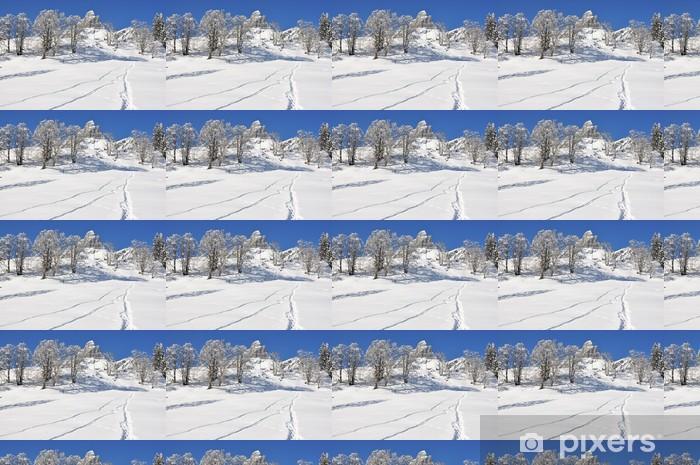 Vinyltapet Braunwald, kjent sveitsisk skianlegg - Fjell