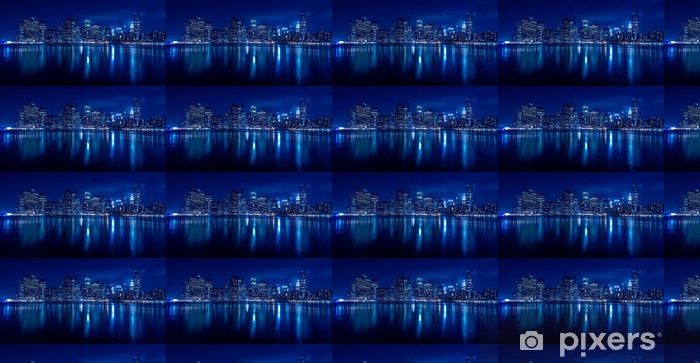 Vinyltapete nach Maß New York Skyline bei Nacht - Themen