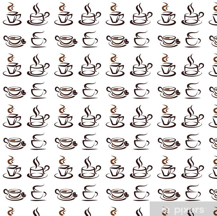 Tapeta na wymiar winylowa Wektor zestaw ikon kubki kawy - Naklejki na ścianę