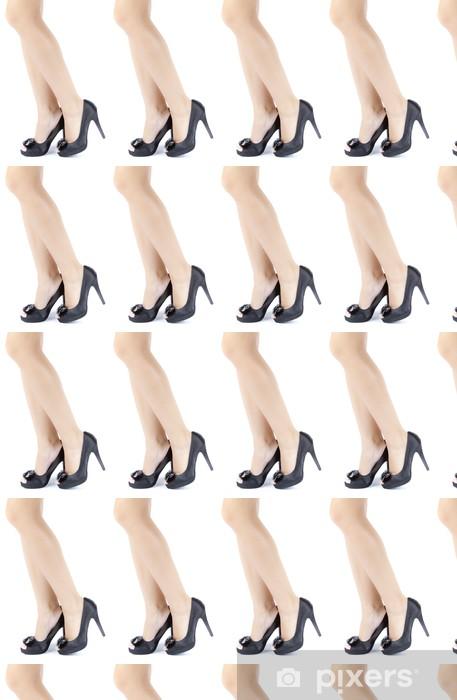 Vinyl behang, op maat gemaakt Vrouw vrouwelijke benen met hoge hakken - Thema's