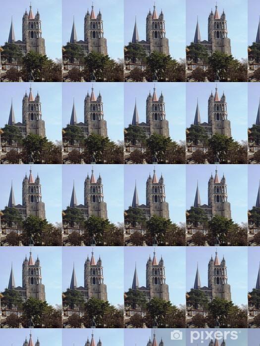 Vinyltapete nach Maß Kathedrale von Lausanne - Öffentliche Gebäude