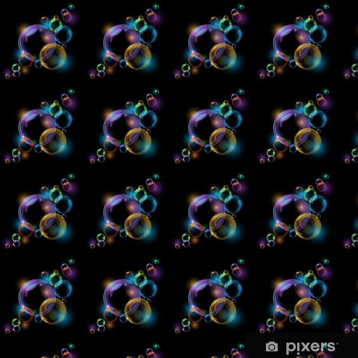 Papel de parede em vinil à sua medida Black bubble vector background - Fundos