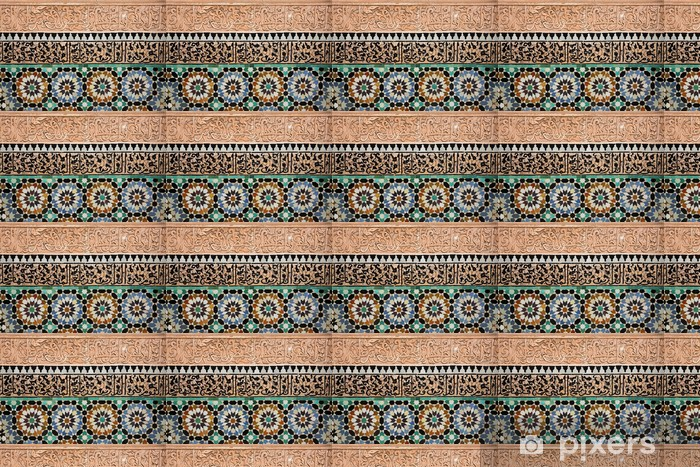 Vinyl behang, op maat gemaakt Marokkaans tegelwerk - Thema's