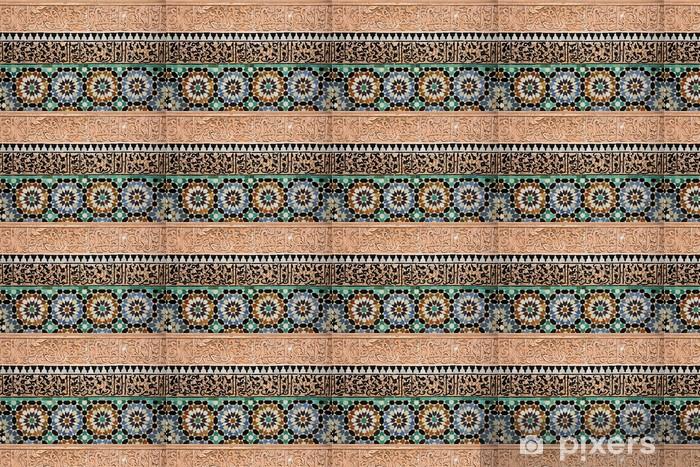 Papier peint vinyle sur mesure Carrelage marocain - Thèmes