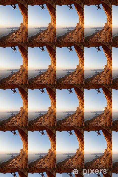 Vinylová tapeta na míru Horolezec při západu slunce, Kalymnos Island, Řecko - Extrémní sporty