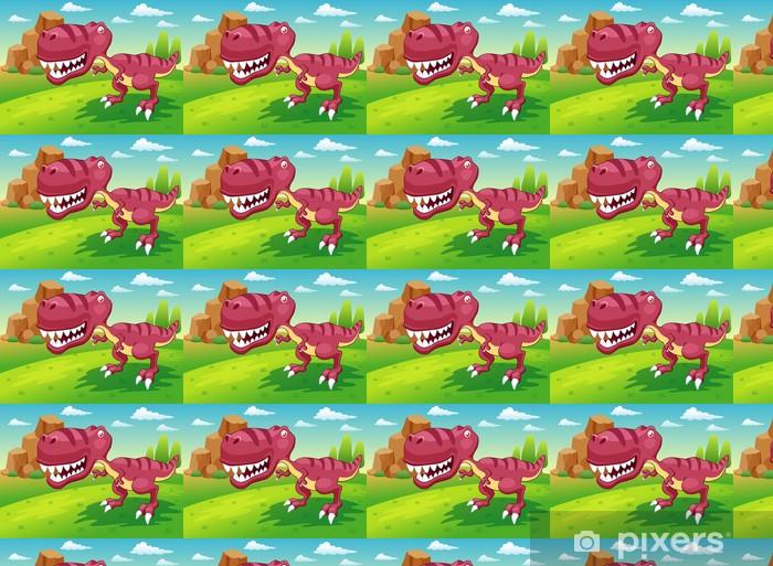 Vinylová tapeta na míru Ilustrace kreslené dinosaur vektoru - Témata