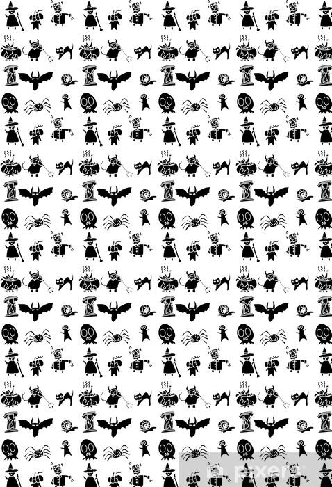Hand Draw Halloween Cartoon Wallpaper Vinyl Custom Made