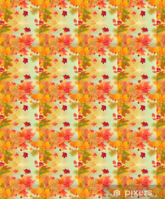 Autumn maple leaves with water surface Vinyl custom-made wallpaper - Seasons