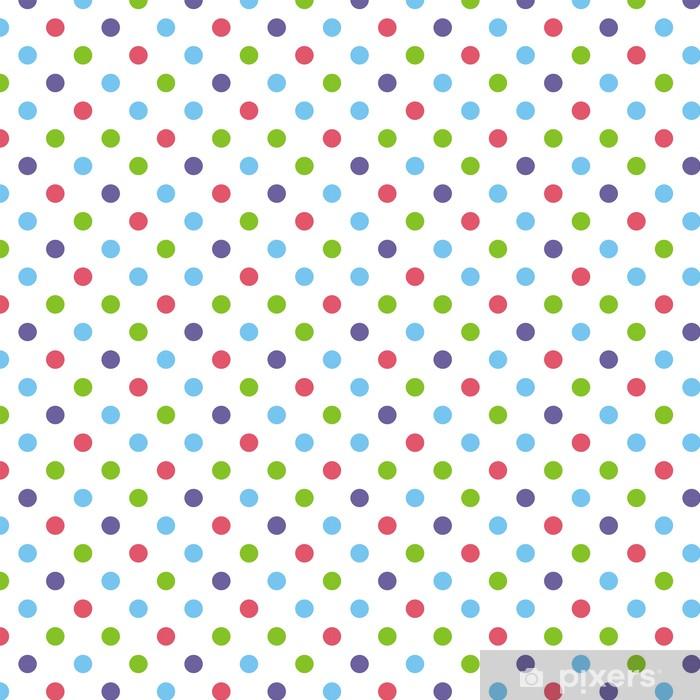 Vinyl behang, op maat gemaakt Naadloze vector patroon of achtergrond grote kleurrijke polka dots - Thema's