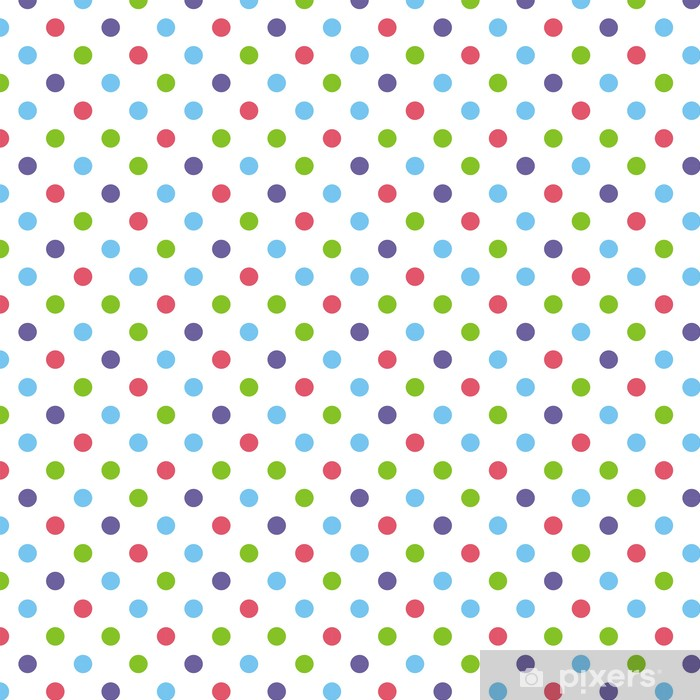 Måttanpassad vinyltapet Seamless vektor mönster eller bakgrund stor färgstarka prickar - Teman