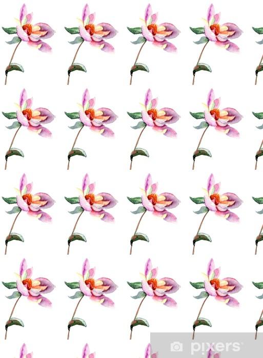 Vinylová tapeta na míru Dahlia květiny, akvarel ilustrace - Květiny