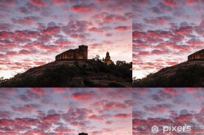 Vinylová Tapeta Castillo con nubes - Město
