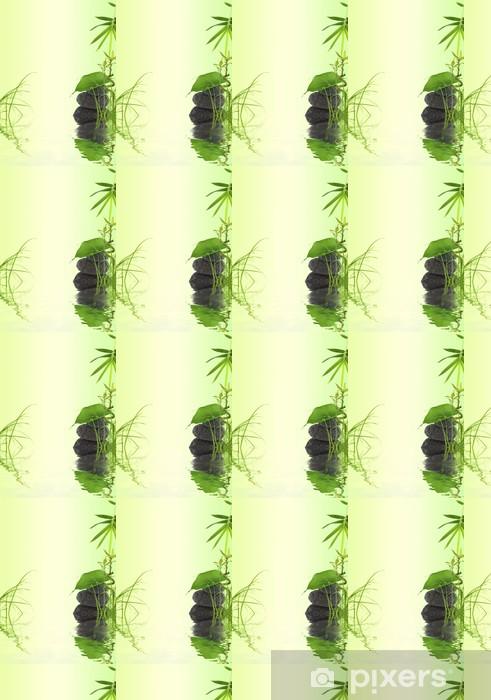 Papel pintado estándar a medida Decoración de bambú de la naturaleza, la hierba, las hojas en el guijarro - Temas