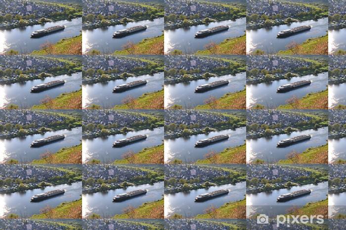 Papier peint vinyle sur mesure Excursion en bateau sur la Moselle - Vacances