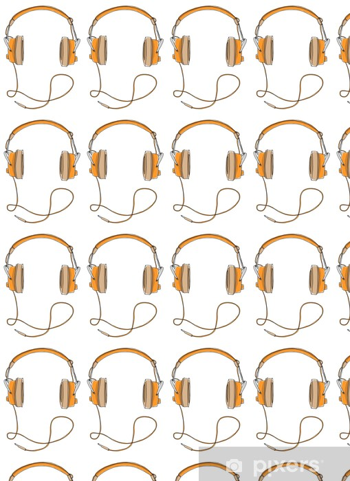 Vinyltapete nach Maß Vintage Kopfhörer - Wandtattoo
