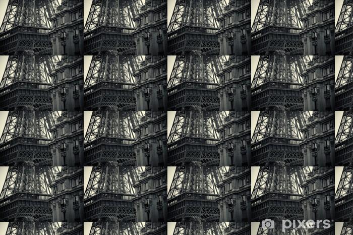 Papier peint vinyle sur mesure Noir et blanc Tour Eiffel - Styles