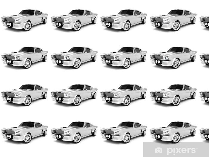 Vinyltapete nach Maß Silvery Classical Sports Car - Straßenverkehr