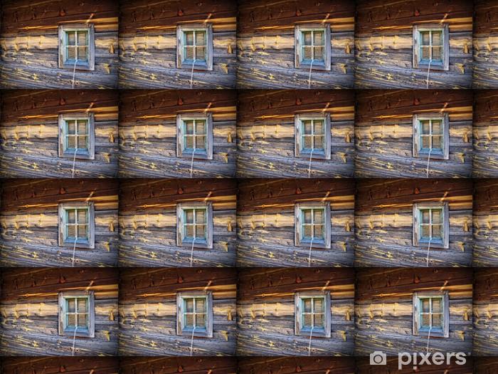 Vinyl behang, op maat gemaakt Rustiek Hout Bard Detail van het venster - Privé Gebouwen