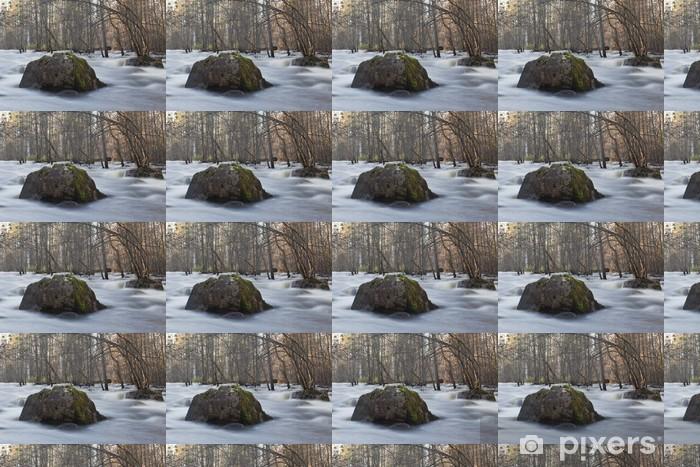 Vinylová tapeta na míru Záplavy po silném dešti, řeka Hagge, Dalarna, Švédsko - Voda