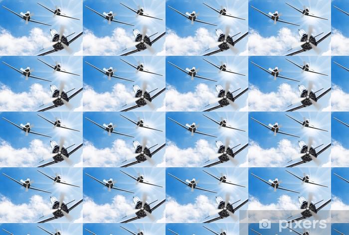 Tapeta na wymiar winylowa Fighters - stare samoloty śmigłowe. Retro temat technologii. - Tematy