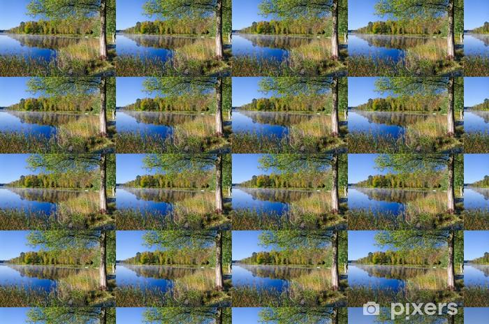 Vinylová tapeta na míru Krásná Švédské jezero krajina v podzimních barvách - Roční období