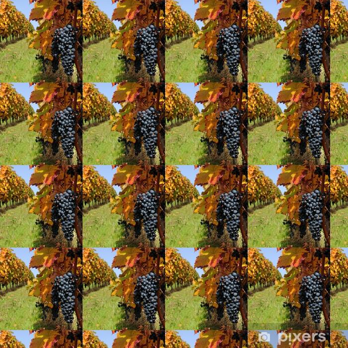 Papier peint vinyle sur mesure Vignoble en automne - Saisons