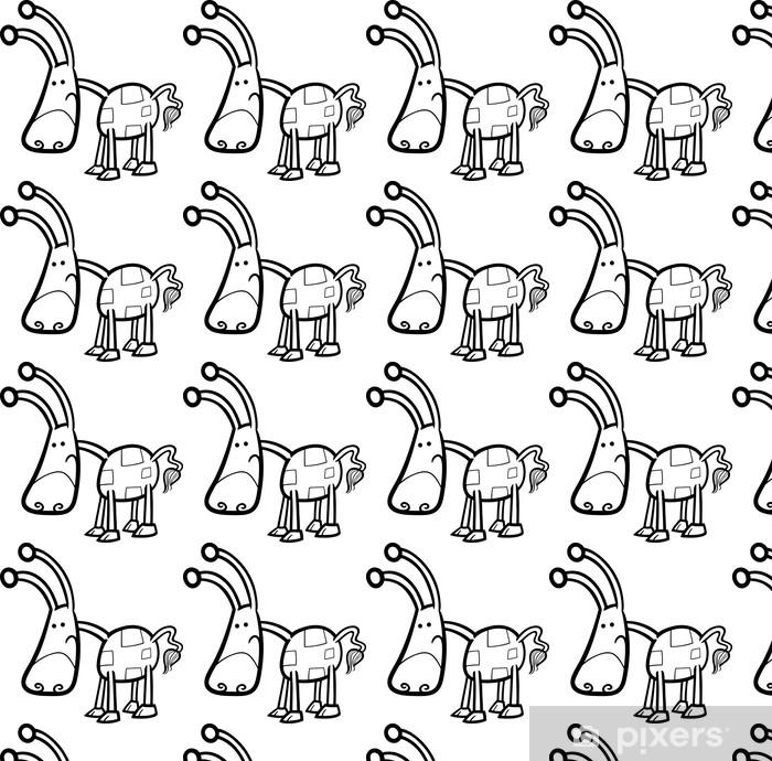Tapeta na wymiar winylowa Stwór cartoon fantazja do kolorowania - Fikcyjne zwierzęta
