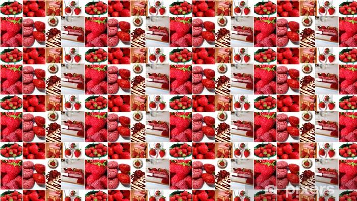 Papel de parede em vinil à sua medida fraises - Doces e Sobremesas