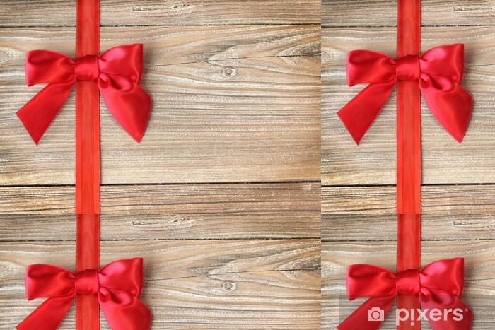 Vinylová Tapeta Loop v červeném na dřevo - Mezinárodní svátky
