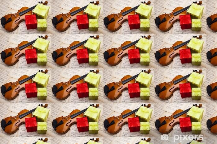 Vinyl behang, op maat gemaakt Gift en viool - Muziek